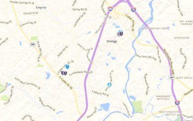 Vinings Ridge Map Locations Smyrna Atlanta
