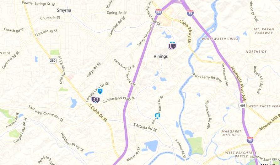 The 2 neighborhoods of vinings ridge in cobb county atlanta zones